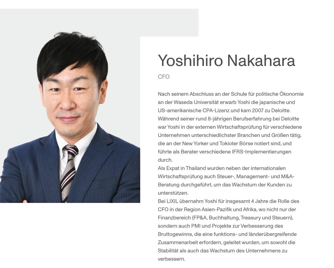 Vorstand Monstarlab Profil von Yoshihiro Nakahara